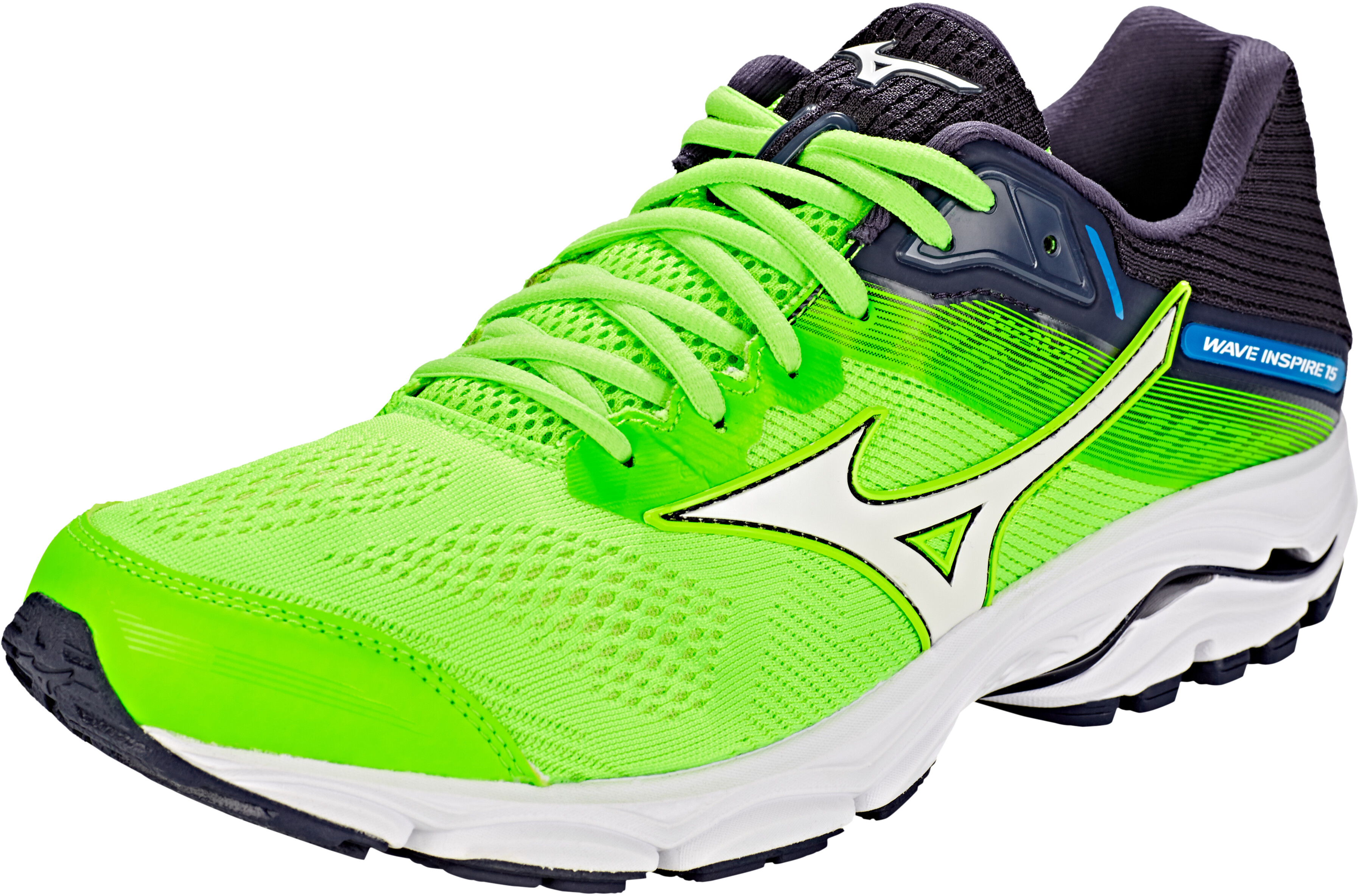 e5a2ee742f96 Mizuno Wave Inspire 15 Running Shoes Men green white at Addnature.co.uk